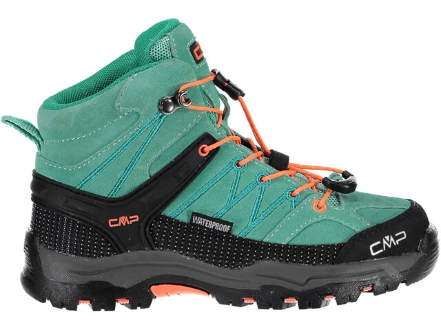 CMP Campagnolo Rigel Mid WP Trekking Shoes Junior Aquamint-Red Fluo